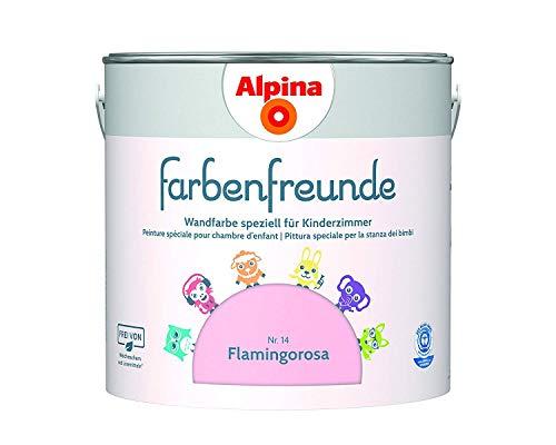 Alpina Farbenfreunde 2,5L Kinderzimmerfarbe Wandfarbe (Nr.14 Flamingorosa)