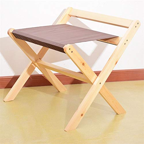 Suitcase Stand Solid Wood Luggage Stool Foldable Bedroom Bedside Clothes Storage Rack Hotel Rack Furniture-Original Wood Color Cloth Surface 60 * 48 * 55Cm