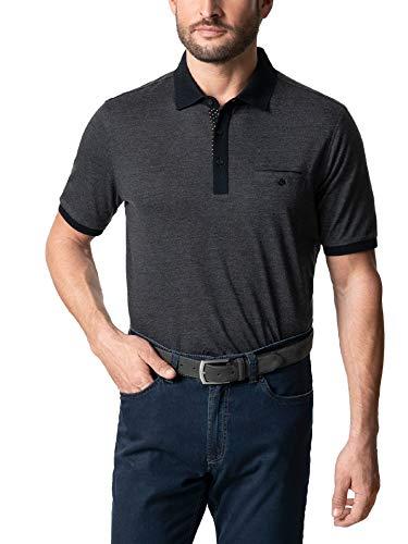 Walbusch Herren Premium Polo Gentleman einfarbig Anthrazit 52