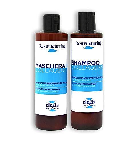 Shampoo e Balsamo Collagene, Acido Ialuronico e Keratina - Botox Capelli -Infoltimento Capelli - Made In Italy - 250ml