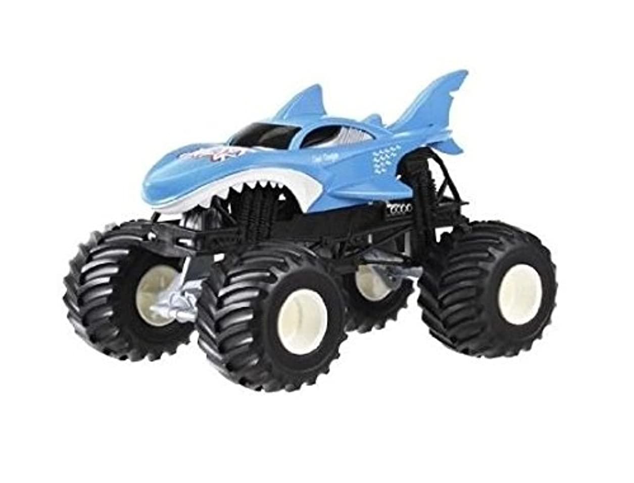 心のこもった抑圧学習Hot Wheels Monster Jam 1:24 Scale Shark Wreak Vehicle