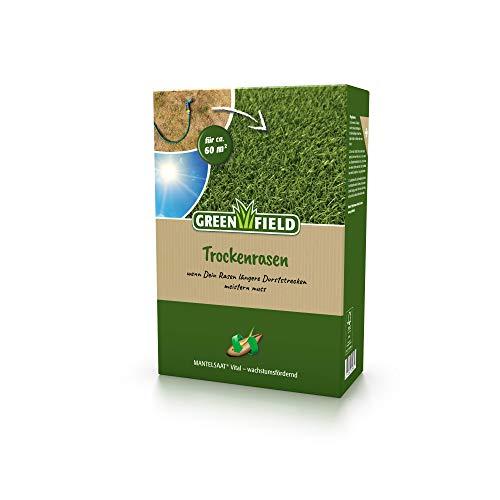 Greenfield Trockenrasen Rasen Samen Mantelsaat® Vital 2 kg für ca. 60m²