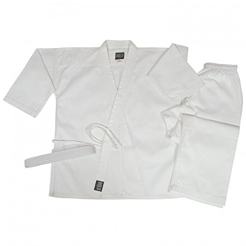 Bold Look 8.5 oz Super-Middleweight Karate Uniform (00, White)