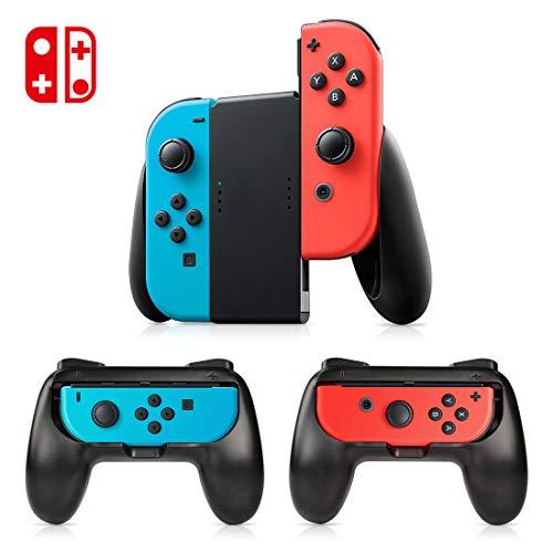 Tres mandos Kits, Timoom Kits de mandos para proteger JOY CON (Joy con no incluido en el paquete),Empuñaduras de control kit Grip,funda kits protección Mandos,kits para Mandos Nintendo Switch