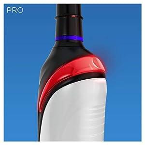 Oral-B PRO 2 2900 Black Edition Elektrische Zahnbürste mit visueller Andruckkontrolle, mit 2. Handstück, schwarz