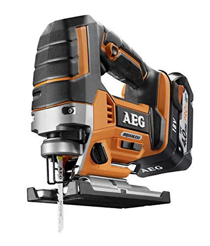 AEG 4935459656 Brushless accu-decoupeerzaag (18V, LED-verlichting, pendelhub, 5 snelheidsniveaus, 2 accu's 2,0 Ah) BST18BLX-402C