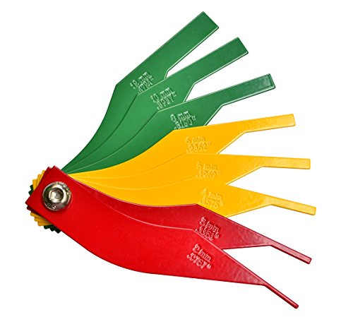 ITEQ Brake Lining Thickness Gauge 8 Piece SAE & Metric Steel Constructions