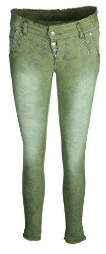 Glücksstern Damen Jeans Hose Petra Farbe Grün (26/28)