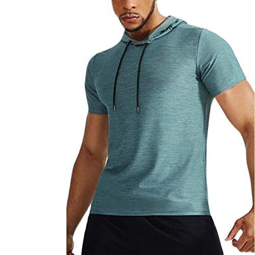 SSBZYES Camisetas para Hombre Camisetas De Manga Corta para Hombre Camisetas Deportivas Delgadas con Capucha Y Manga Corta para Camisetas Casuales De Verano para Hombre Camisetas De Color Sólido