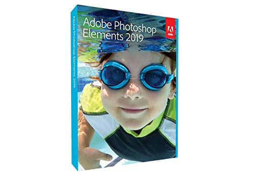 Adobe Photoshop Elements 2019 | Standard - Anglais | PC/Mac | Disque| PC/Mac | Disque