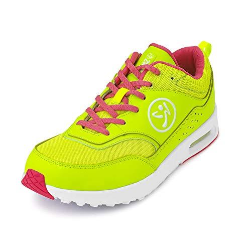 Zumba Active Air Classic Zapatillas Deportivas con Estilo de Fitness Zapatillas de Mujer de Baile, Light Green, 40.5 EU
