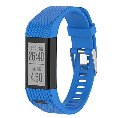 Garmin Vivosmart HR+ Armband, SHOBDW Ersatz Silikonband Armband Armband Armband für Garmin vivosmart HR + (Blau, 21MM)
