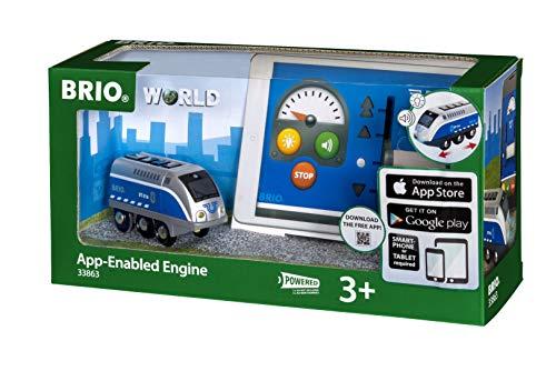 BRIO Bahn 33863 - Batterielok Blauer Oskar mit APP Steuerung