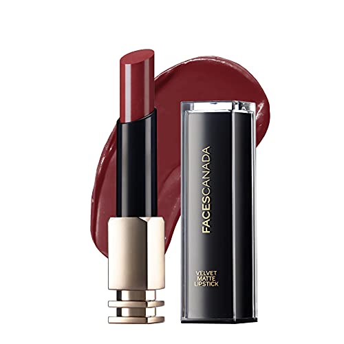 Faces Canada Velvet Matte Lipstick, Smooth one stroke intense color, Soft Matte finish, Enriched with Vitamin E, Hydrated lips all...