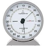 エンペックス気象計 温度湿度計 スーパーEX 温湿度計 置き掛け兼用 日本製 メタリックグレー EX-2717