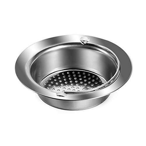 PlenTree 2018 Nuevo fregadero de acero inoxidable Filtro Coladores Coladores de pelo filtro redondo cocina de drenaje del fregadero cuarto de Accesorios GHMY: 11x7.8x2.8cm
