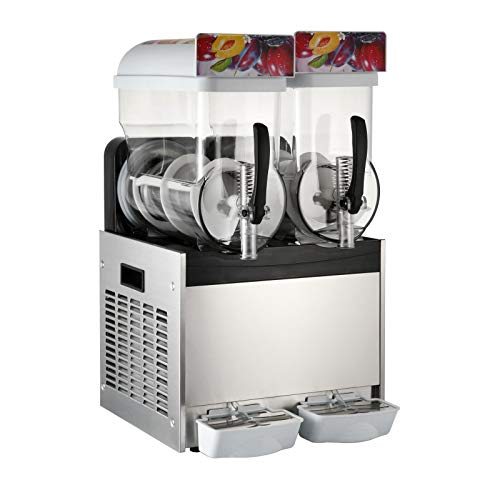 Moracle 2x15l Slusheis Maschine 600W Slush Maker kommerziell Slush Ice Machine Slush Eismaschine Frozen Drink