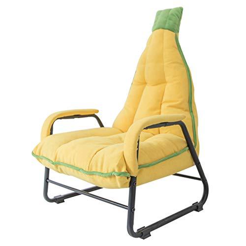 XLSQW Sofá de plátano para niños, Silla de reposabrazos y Material de Lino Material de Lino Asiento para niños Silla de salón para niños Esponja Engrosada, con Respaldo Ajustable