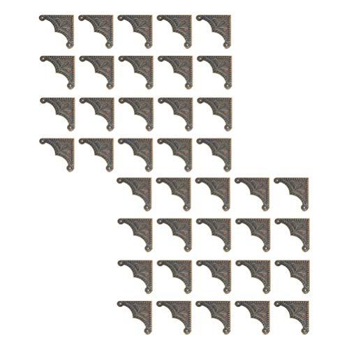 Angoily 40 Piezas de Metal Libro Protector de Esquina Álbum de Fotos Cubierta de Diario Esquina Álbum Carpeta de Menú para Álbum Diario Menú Libro Protección de Cuaderno