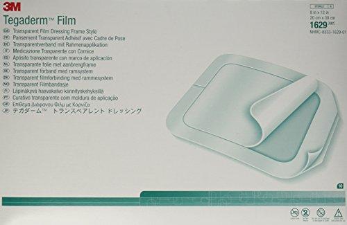 "3M Tegaderm Transparent Film Dressing - 8"" x 12"" - - Box of 10"