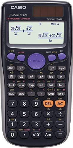 Casio FX-85DE Plus Wissenschaftlicher Taschenrechner, Solar/Batterie