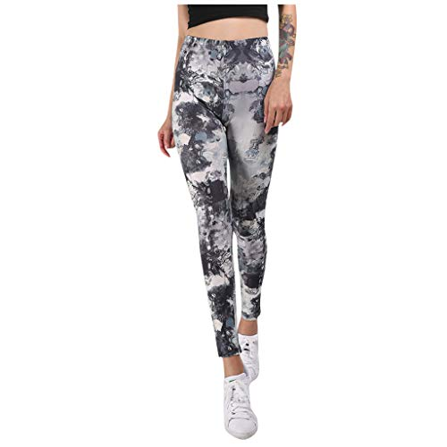 Leggings Mujer Fitness Push Up Cintura Alta Pantalones Yoga Estampados Pantalon Deportes Elástico Largo Transpirable para Entrenamiento Running Gym Yvelands