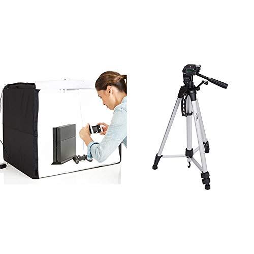 AmazonBasics Portable Photo Studio & 60-Inch Lightweight Tripod with Bag