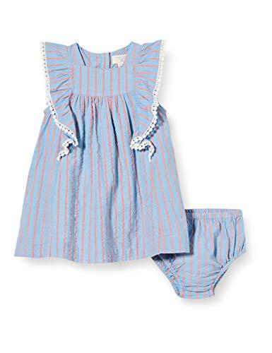 ZIPPY Conjunto de Vestido y Cubrepañal SS20, Blue, 12/18M para Bebés