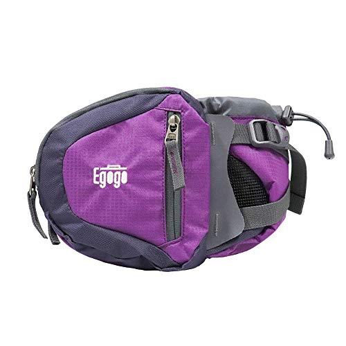 Mochila esportiva de viagem para esportes da Egogo, pacote com pochetes, bolsa de caminhada, com suporte para garrafa de água S2209 (roxo escuro)