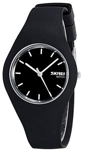 Gosasa, orologio sportivo casual e semplice, con cinturino in silicone, impermeabile fino a 30 m Black White Hands