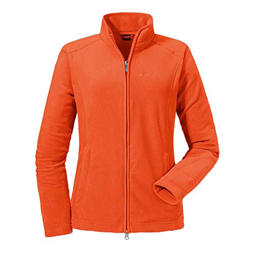 Schöffel Leona2 Damen Fleece Jacke, Orange (mandarin red), 36