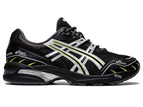 ASICS Men's GEL-1090 Shoes, 10M, Black/Pure Silver