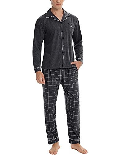 NC Pijama Hombre Largo Algodón con...
