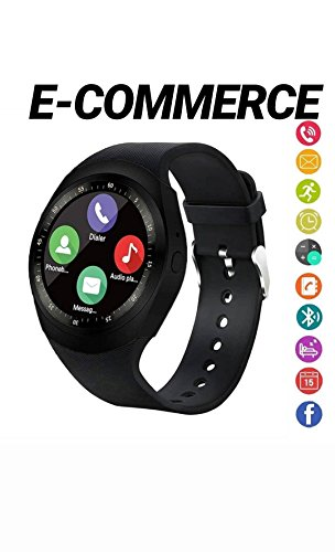 smartwatch,Bluetooth SmartWatch,Round Smartwatch contapassi fitness tracker con slot per SIM Card TF chiamate notifiche per iOS Android Samsung Huawei Sony LG HTC Google per donna,uomo e bambini