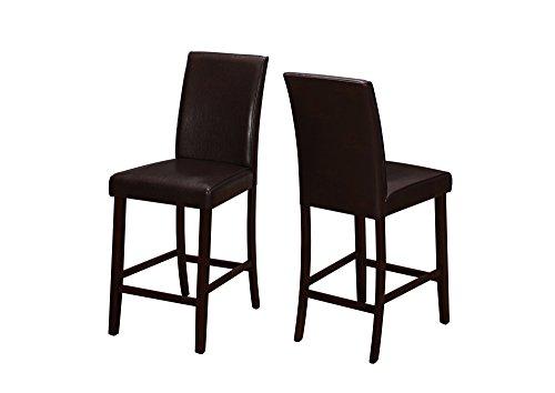 BESTSOON Sillas de comedor de 2 piezas de piel sintética con altura de madera sin brazos, para tu cocina, comedor, barra de desayuno o loft para comedor, sala de estar, cocina