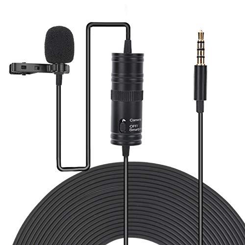 DAUERHAFT Práctico micrófono portátil con Clip APS, para cConference Speech, para cámara SLR, teléfono iOS, Tableta, PC
