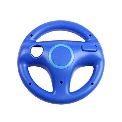 LAANCOO-Controller Lenkrad Gamepad Lenkrad Racing Game-Rad für Nintendo Wii Remote Spiel WII-Blau für den Winter Valentinstag Muttertag