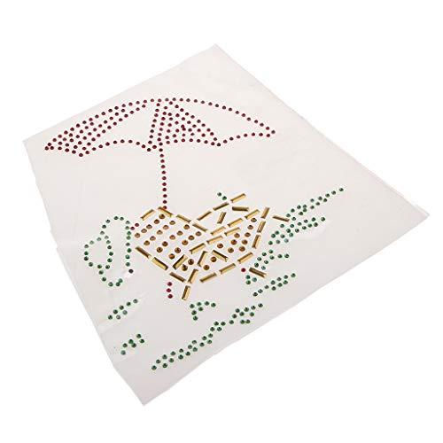 SDENSHI Paraguas de Diamantes de Imitación Perlas Hierro en Hotfix Apliques Prensa de Calor Parches de Ropa
