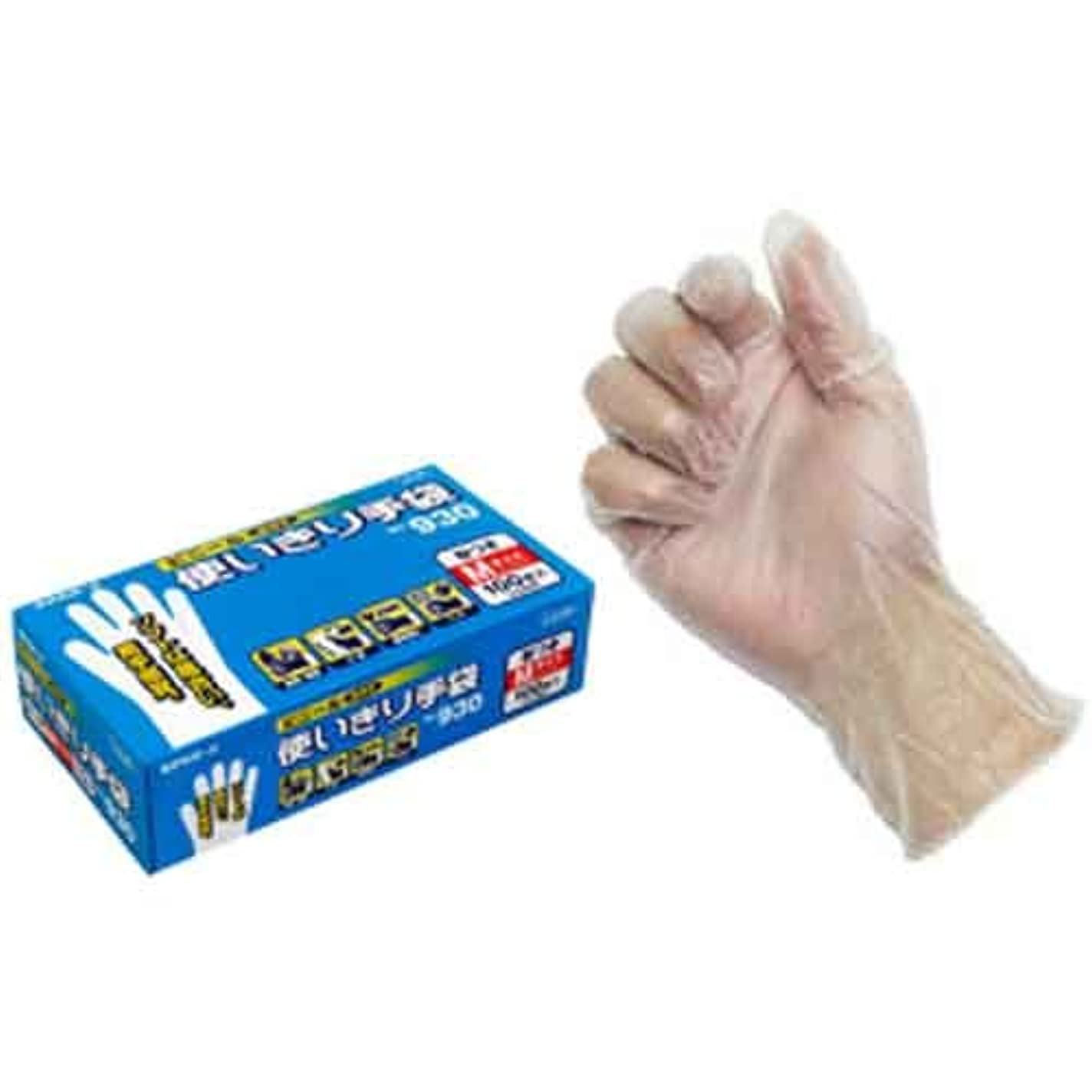 口病気の餌ビニール使いきり手袋(粉付)100枚入(箱) 930 M