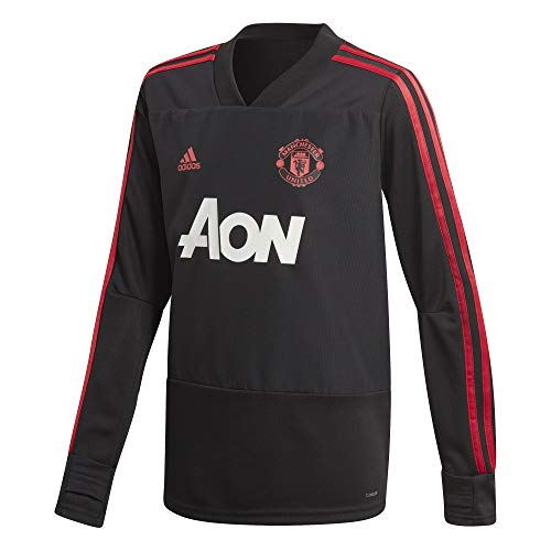 adidas Kinder Trainingstrikot Manchester United, Black/Blaze red/core pink, 176, CW7593