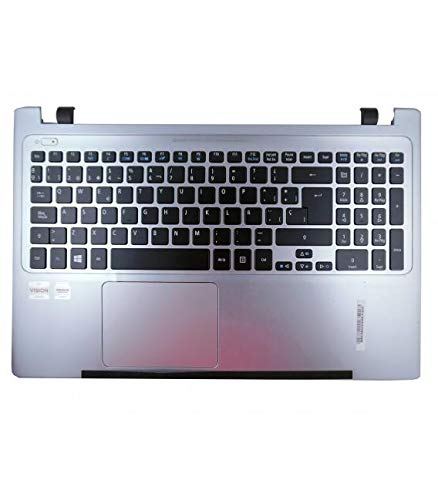 Laptop Full Keyboard with Front Cover for Acer Aspire V5-571 V5-551 Silver
