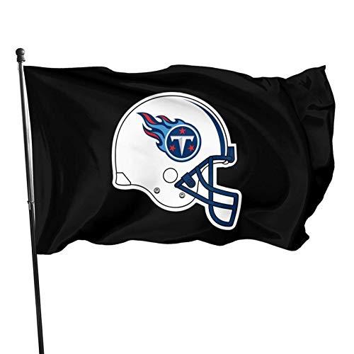 XCNGG Bandera de poliéster para Exteriores de 3 x 5 pies, fútbol Americano de Tennessee T-ita-NS Colores Vivos y Resistente a la decoloración UV