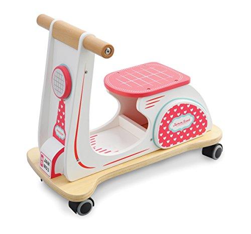 Indigo Jamm - Patinete de Madera Jamm de Juguete con diseño Retro clásico para niños de 12 Meses más - Corazón