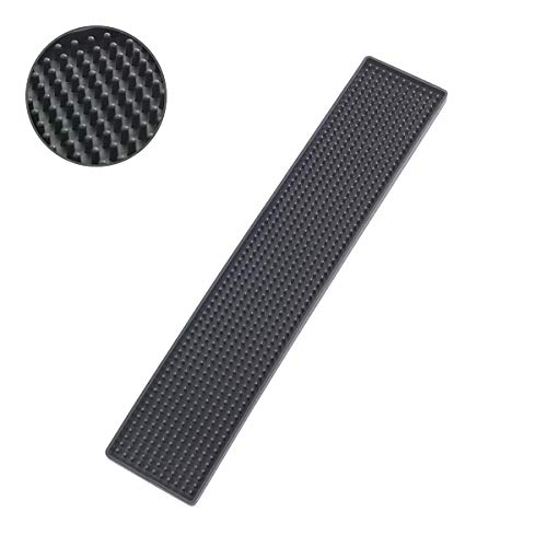 Wenko Tapete Escurridor Slim, Elastómero Termoplástico, Negro, 8x42x3 cm