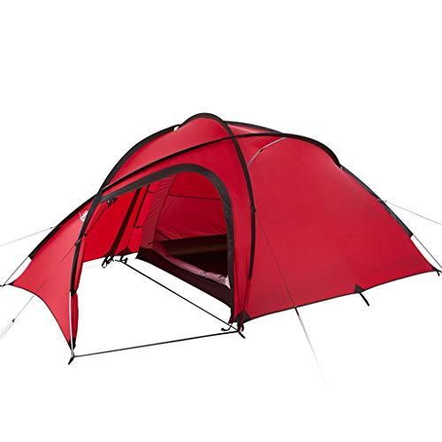 Ultralight Camping Tent 3 Person Easy Set Up Double Layer Waterproof Instant Tent for Family Hiking Outdoor (Color : Red)
