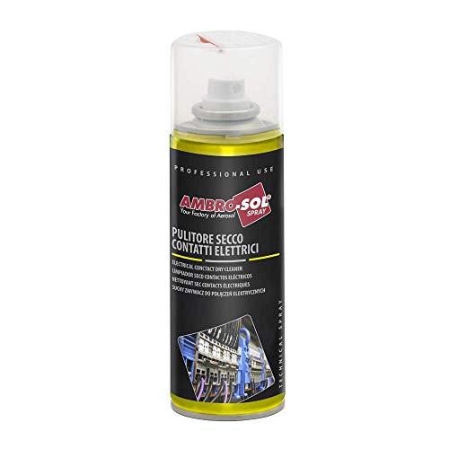 Ambro-Sol - M202 Pulitore Secco per Contatti Elettrici, Spray Indicato per la Pulizia e Manutenzione dei Contatti Elettrici e Elettromagnetici, Bomboletta Spray in Banda Stagnata Riciclabile da 200 ml