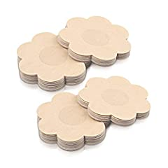 ✅【Safe】100% Medical Grade Adhesive Pasties. Stickiness of these pasties pass test, it serve its purpose with no harm and irritation to skin but not available on sun burned, irritated, or sensitive skin. ✅【Breathable Satin Material STURME nipple cover...