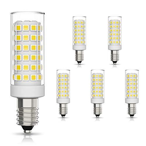 Klighten 6 Pezzi Lampadina LED E14 9W Equivalenti a 75W 700 Lumens Alta luminosità e Risparmio Energetico Non Dimmerabile Lampade LED E14 Luce Bianco Freddo 6000K
