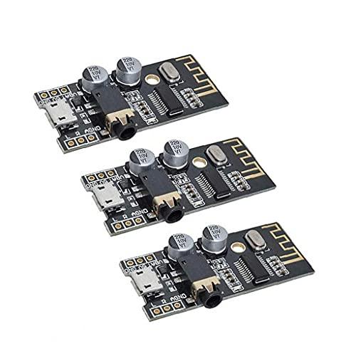 fregthf Módulo Bluetooth M28 inalámbrico de Audio MP3 Receptor Junta Módulo de Sonido estéreo 4Wireless Negro 3PCS