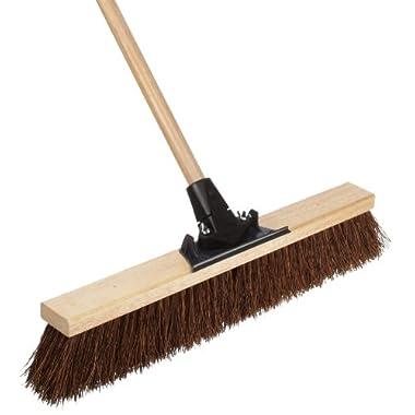 Weiler 44601 Palmyra Fiber Pro-Flex Sweep with Wood Handle, 2-1/2 Head Width
